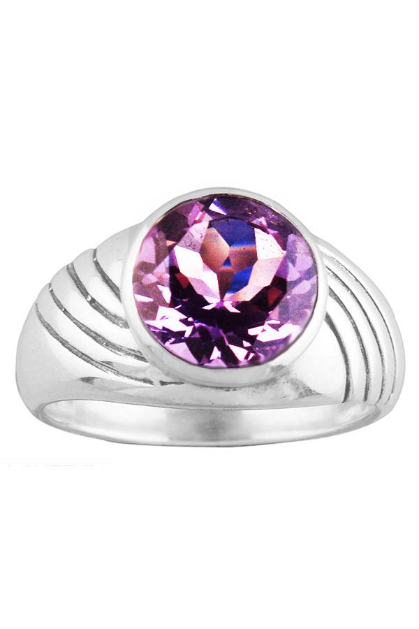Amethist ring, 925 sterling zilver, grote maten