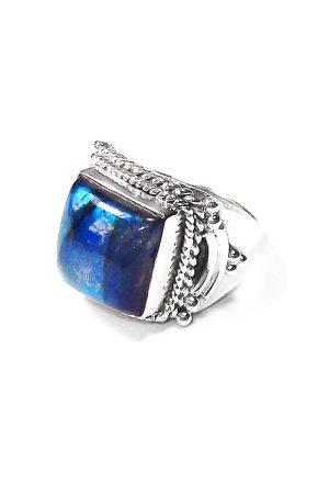 Labradoriet zilveren ring, 925 sterling, kopen, labradorite ring, sieraden, edelsteen, edelstenen, mannen ring, mannen edelsteen ring