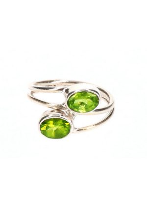 Peridoot verstelbare zilveren ring, peridot, peridote, sieraad, sieraden, kopen, jewelry, sterling zilver