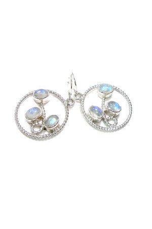 Regenboog Maansteen zilveren oorbellen, sterling zilver, kopen, rainbow moonstone, earrings, kopen, sieraden, sieraad, juwelen, juweel