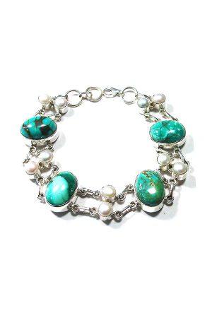 turkoois zilveren armband, turkoois armband zilver met parels, kopen, turqouise, turkoise, pearl, silver, juwelen, juweel, sieraad, edelsteen, edelstenen, kopen