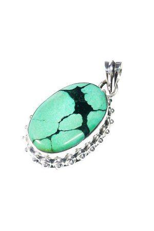 Turkoois hanger, zilver, 925 sterling, turqouise pendant, ketting, kopen, edelstenen, edelsteen, sieraad, sieraden
