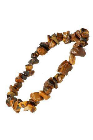 Tijgeroog splitarmband, 18 cm, chips bracelet, kopen, edelsteen armband, edelstenen armband