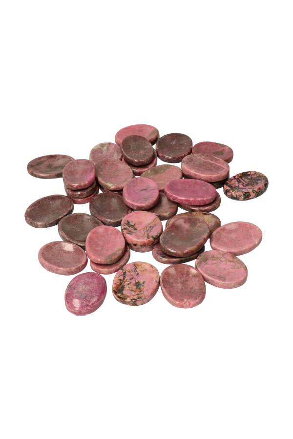 Rhodoniet duimstenen, 3.5 a 4 cm