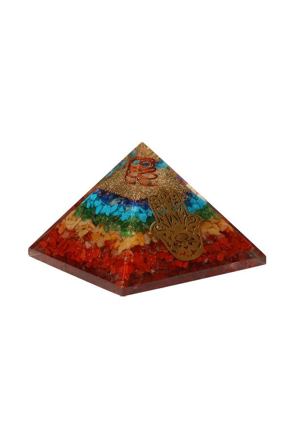 Orgoniet piramide hand van Fatima, pyramid, orgone, orgoniet piramide, hand of fatima, hamsa handje, geluks hand, kopen, Happy Spirit