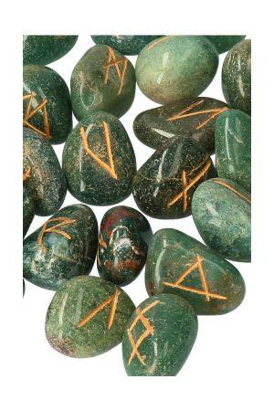 Runen set bloedsteen, 25 delig, rune set, heksen, voorspellen, rune, waarzeggen, edelsteen, edelstenen, stenen rune