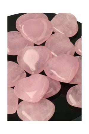 Rozenkwarts hartje, 3.5 cm, rosequartz heart, kopen, rozekwarts, harten, edelsteen, edelstenen