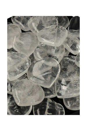 Bergkristal hartje, rock quartz, clear quartz heart, edelstenen hartje, edelsteen hart, kopen