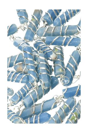 angeliet hanger, edelstenen, edelsteen, pendant, kopen, peru, angeliet wire wrapped hanger, pendant