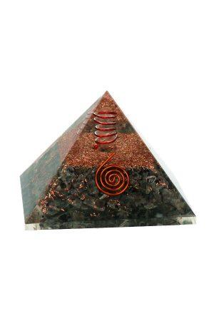 Orgoniet piramide 'bescherming' Larvikiet, orgone piramide, orgonite pyramid, larvikiet, bescherming huis, spiritueel, kopen