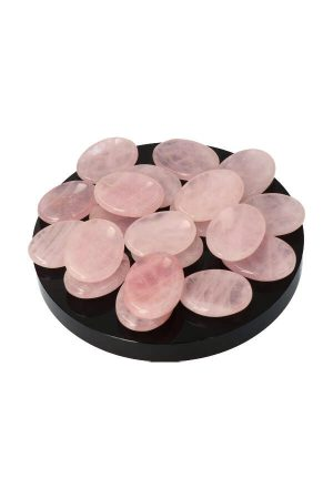 Rozenkwarts duimsteen, 3.5 a 4 cm, rosequartz thumbstone, worrystone, stress steen, knuffelsteen, zaksteen, rozekwarts, kopen, spiritueel