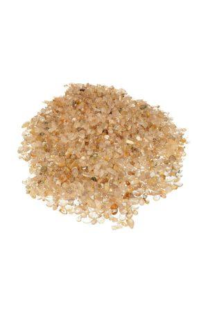 Goud Rutiel chips, gepolijst, 0.4 tot 1 cm, zak 100 gram tot 1 kilo, GOLD RUTILE MINI STONES, GRAVEL, KOPEN