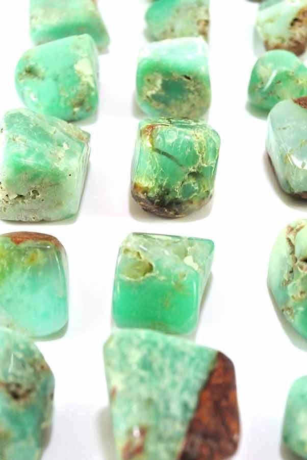 Chrysopraas steen getrommeld, ca 3 cm, 15-25 gram