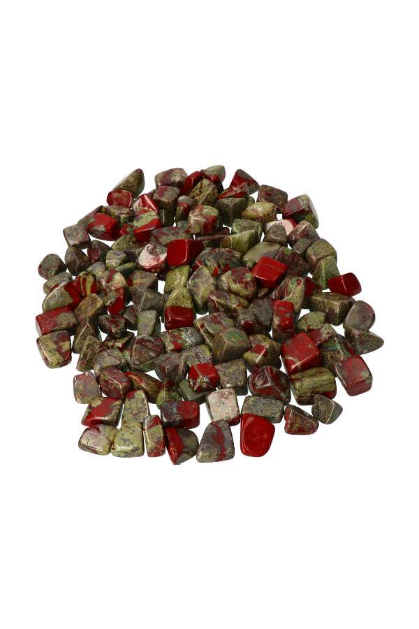 Drakenbloedsteen, 1 steen, circa 1.5 a 2.5 cm, Zuid Afrika
