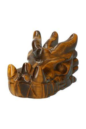 Tijgeroog kristallen drakenschedel, tijgeroog draakje, crystal dragon skulll, tiger eye, kopen,