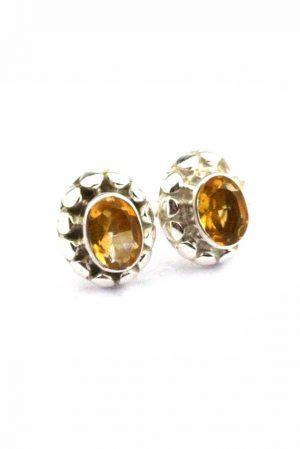 Citrien oorstekers, zilveren edelsteen oorbellen, citrien oorstekers kopen, earrings, citrine, arnhem