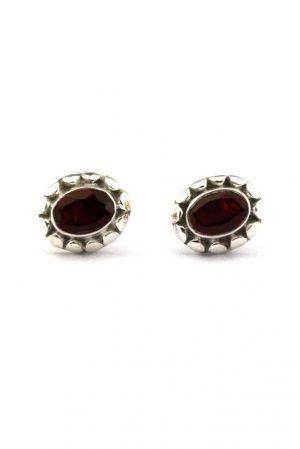 Granaat oorstekers zilver, 925 sterling, garnet pendant, granaat oorbellen kopen, zilveren edelsteen oorbellen, edelstenen, kopen, mineralen, arnhem