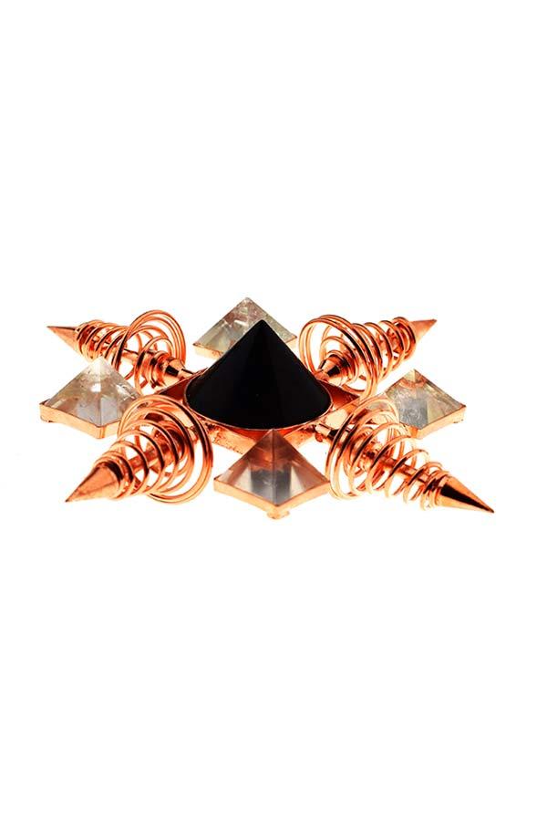 Koper spiraal Toermalijn en Bergkristal grid generator, COPPER COIL GENERATOR, KOPEN, WIFI, STRALIUNG, ELEKTROMAGNETISCHE SMOG,