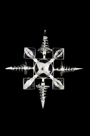 Zilveren spiraal bergkristal grid generator, silver coil, kopen, elektrosmog