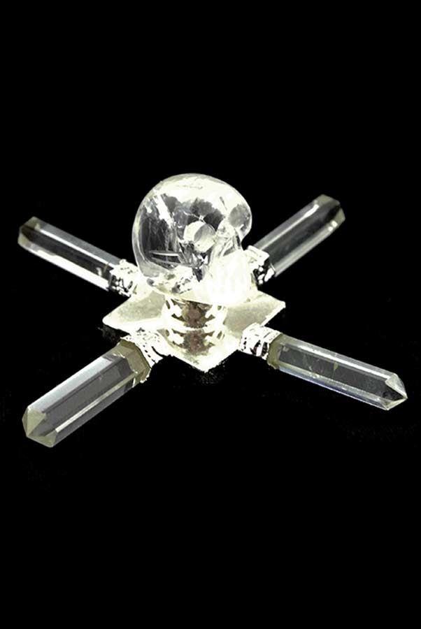 Kristallen schedel energie generator, 8 cm - 10 cm