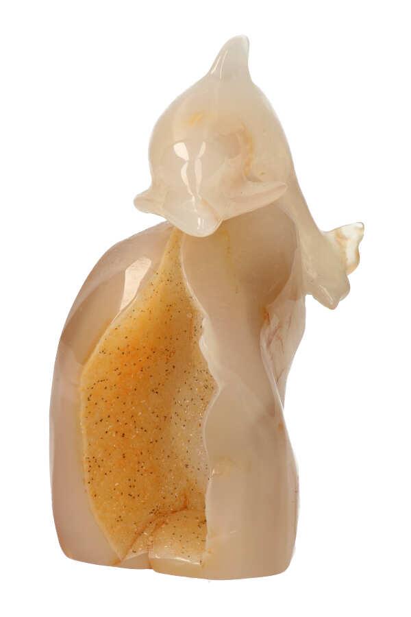 Carneool geode dolfijn, 12.5 cm, 438 gram
