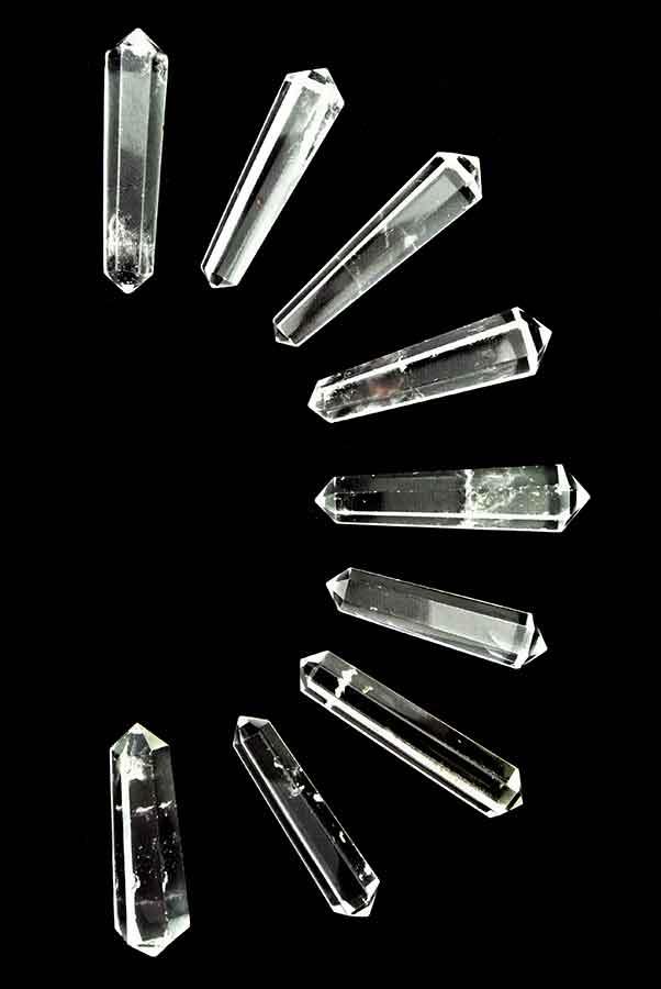 Bergkristal dubbelpunten, 3.5-5 cm, ideaal voor een grid, top kwaliteit