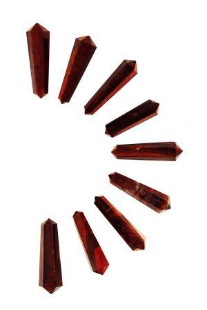 Rode Tijgeroog dubbelpunten, stierenoog, red tiger eye, ox, dubbeleinder, dubbeleinde, double point,