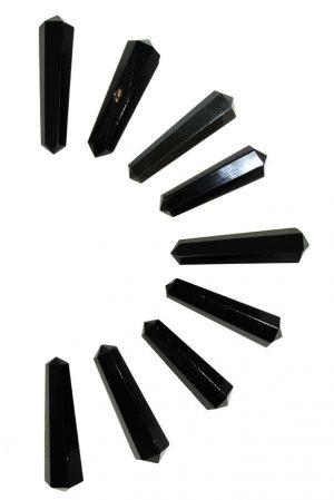 Obsidiaan dubbelpunten, obsidian, kopen, dubbeleinder, dubbeleinde, dubbele, punt, dubbel, pencil, chakra, grid