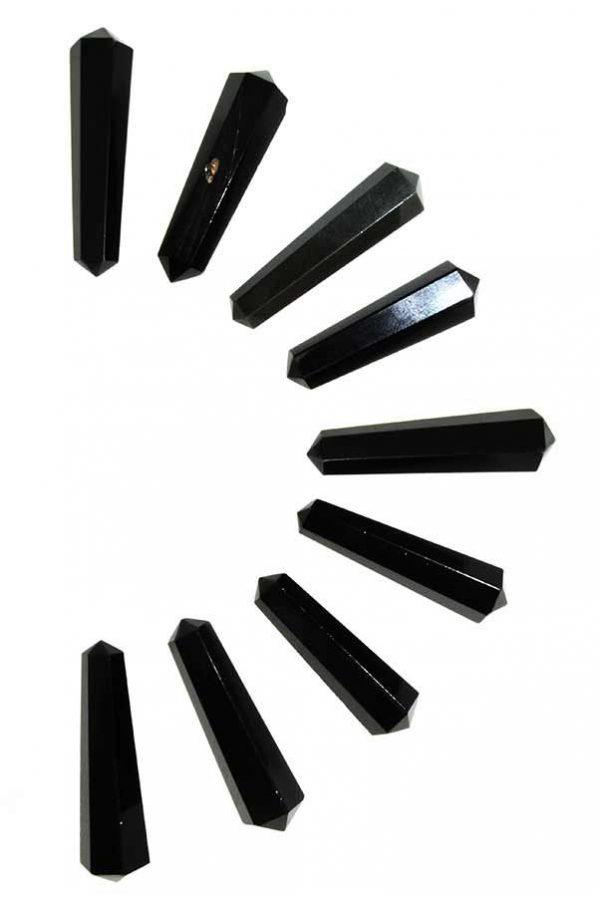 Obsidiaan dubbelpunten, 4-5 cm, ideaal voor een grid