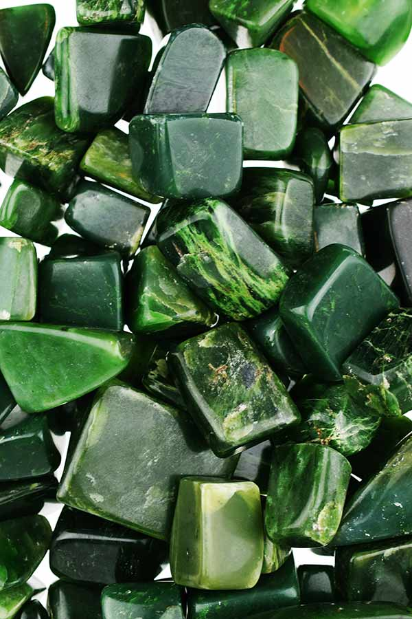 Jade steen, luxe gepolijste grote steen, hele mooie kwaliteit, Pakistan.