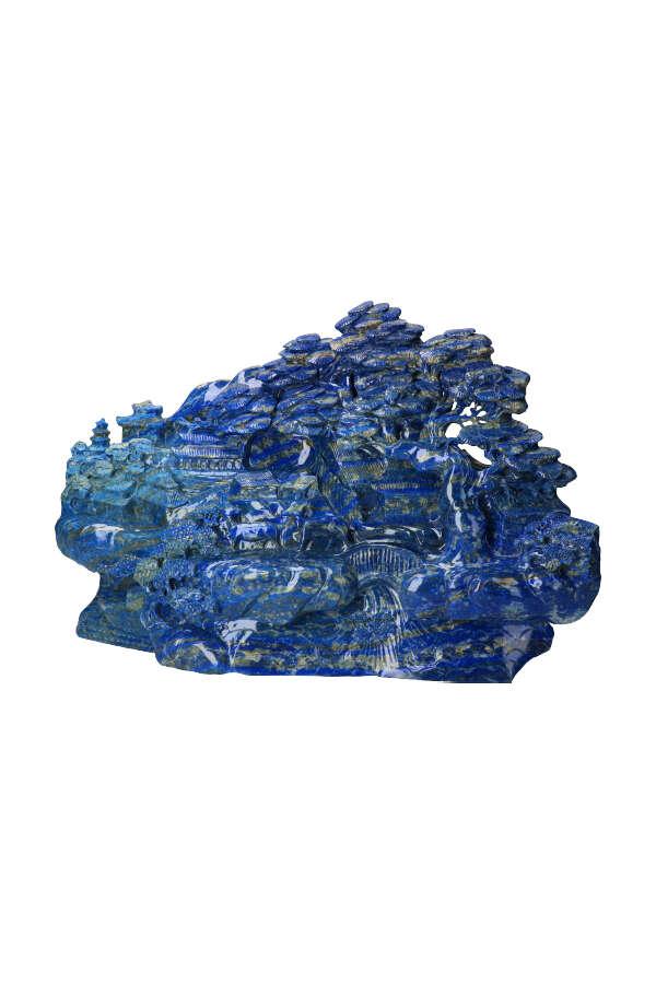 Lapis Lazuli Utopia chinees tafereel, 51 cm , 24.2 kilo