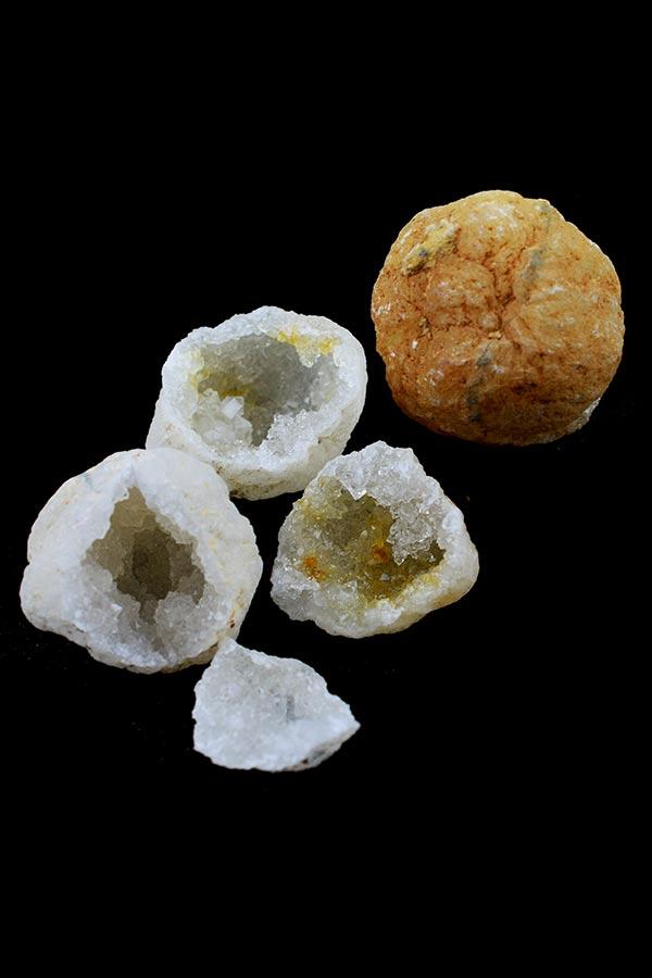 Marokkaans Bergkristal geode paartjes Small, 4-5 cm, ongeveer 50 gram