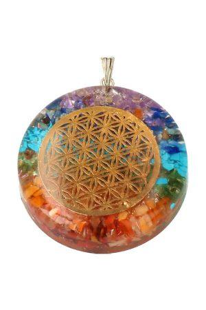 Orgoniet Flower of Life hanger, ketting, orgone, orgonite, koper, bloem des levens, chakra, kopen