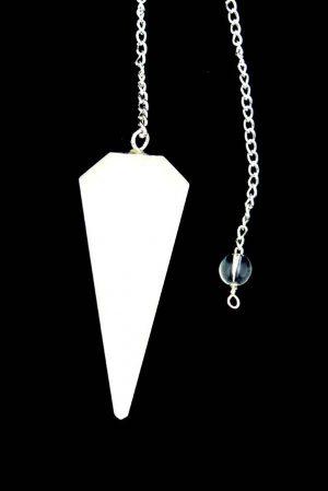 Scoleciet pendel, gefacetteerd 6-vlak, 3-4 cm, scolecite, kopen, pendel, pendulum