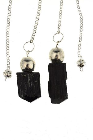 Zwarte Toermalijn ruwe steen pendel, pendulum, kopen, rough turmaline, black turmaline,