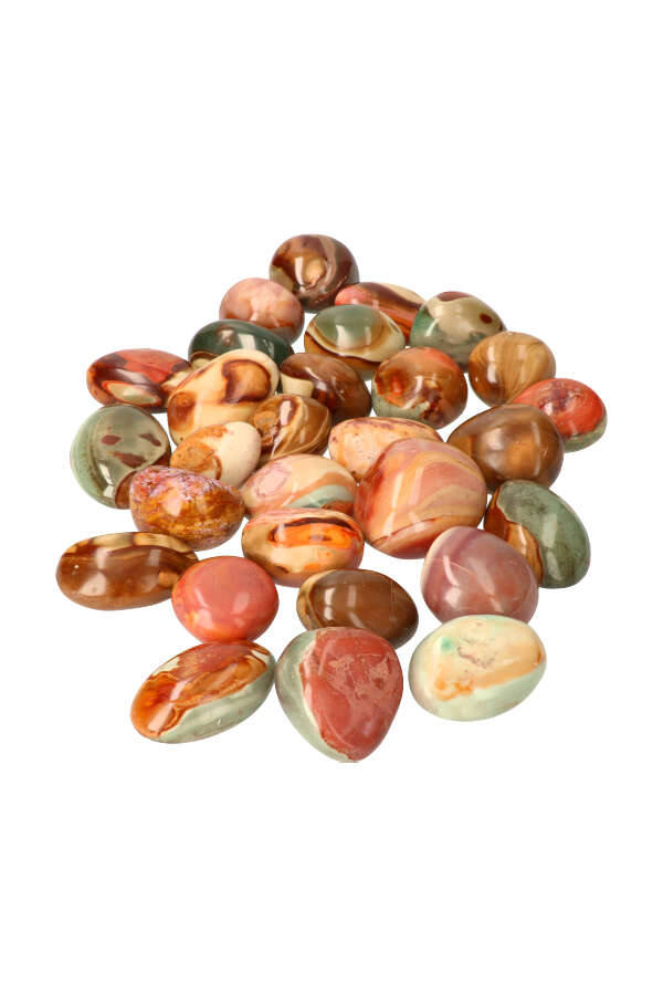 Polychroom Jaspis palm steen, diverse maten, Madagaskar