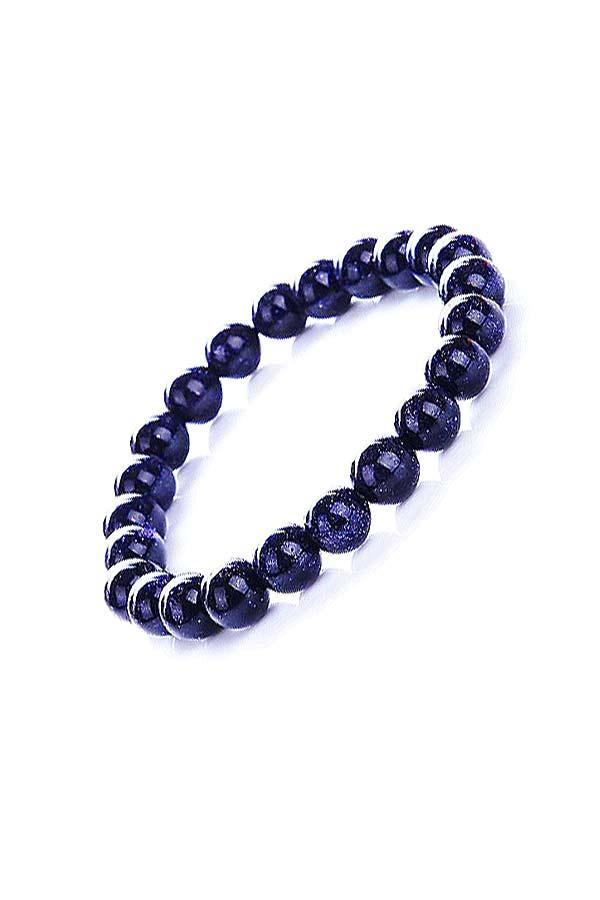 Blauwsteen armband, 10 mm edelsteen kralen, 18 en 19 cm