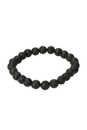 Lava steen armband, 8 mm, 19 cm, Powerbead, Kopen, edelsteen armband, lavasteen, sieraad, sieraden, edelstenen