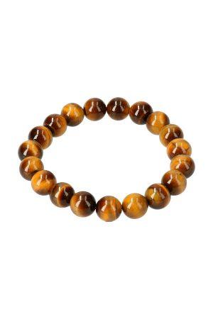 Tijgeroog armband 10 mm, powerbead, 19 cm, edelsteen armband, edelstenen, bracelet, tiger eye, kopen
