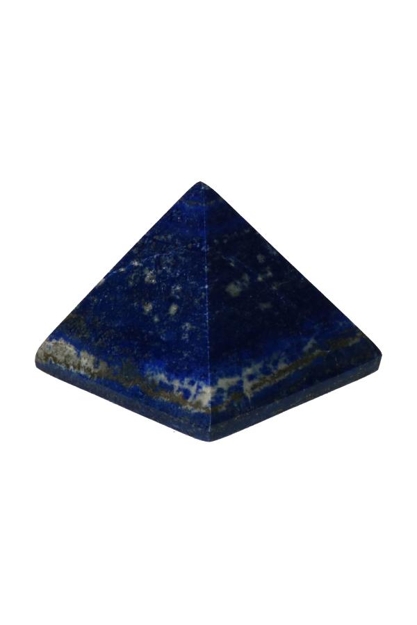 Lapis Lazuli piramide, 6.5 cm breed en 6 cm hoog, 285 gram, Afghanistan