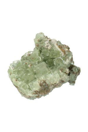Fluoriet kubussen met Pyriet, ruw, specimen, kopen, fluorite, mineraal, mineralen
