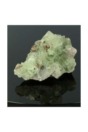 Fluoriet met Pyriet, ruw, specimen, kopen, fluorite, mineraal, mineralen