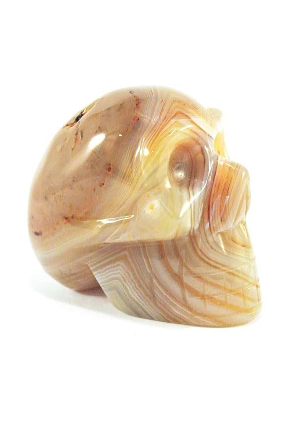 agaat kristallen schedel, 7.5 cm, 289 gram