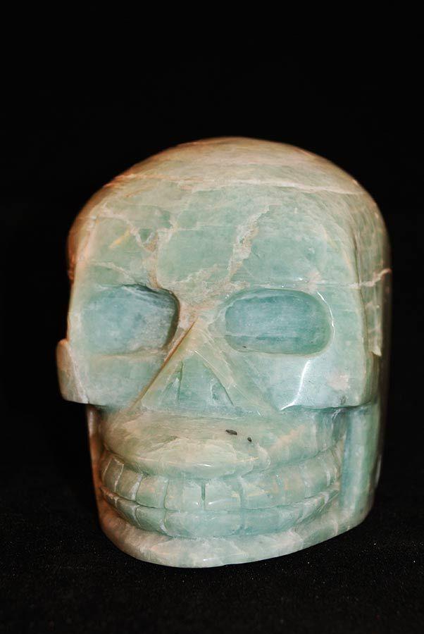 Amazoniet Crystal Skull Traveller, 10.5 cm, 965 gr