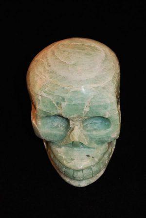 Amazoniet Crystal Skull Traveller, kristallen schedel amazoniet, amazonite crystal skull