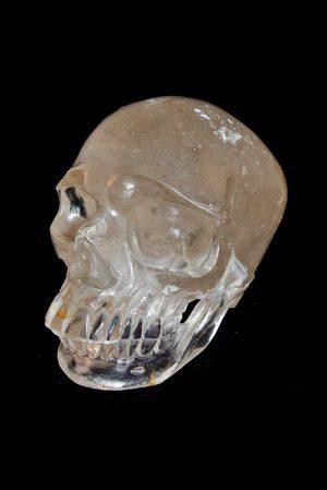 Bergkristal realistische kristalen schedel, bergkrisdtal skull, realistic carving, clear quartz crystal skull, kristallen schedel