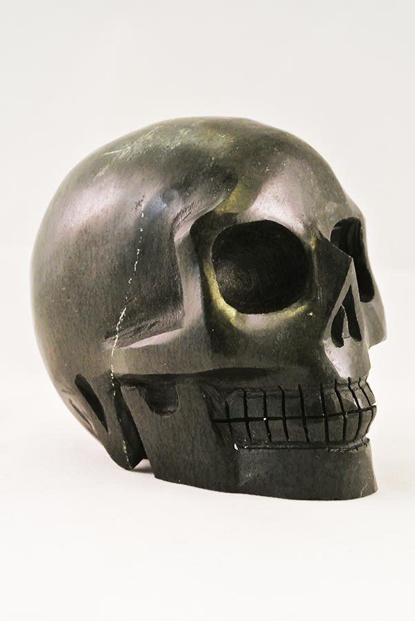 Zwarte Serpentijn Crystal Skull, 11 cm, 1.14 kg