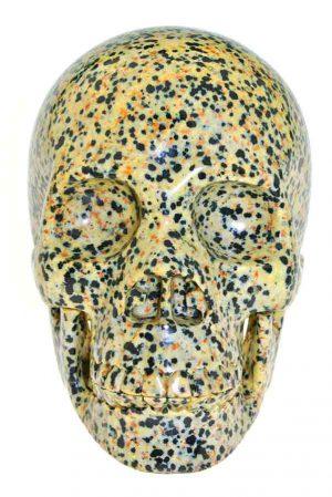 Dalmatier Jaspis realistische kristallen schedel, dalmatier jaspis kristallen schedel, dalmatier jaspis crystal skull,