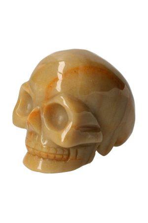 Gele Jade kristallen schedel, yellow jasper crystal skull, schedel, jade, kopen