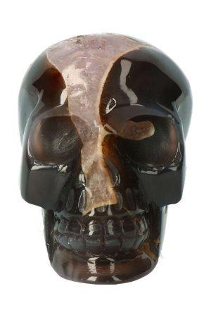 Amethist geode kristallen schedel met golden healer, amethist geode schedel, kristallen schedel, crystal skull, kopen, golden healer schedel